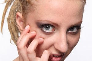Colágeno la máscara para la piel alrededor de los ojos desechable